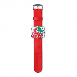 Bracelet de montre Stamps rouge