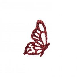 Bijou de peau autocollant tatoo pailleté papillon cherry