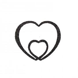 Bijou de peau autocollant tatoo pailleté coeur noir e2f8c136ed98
