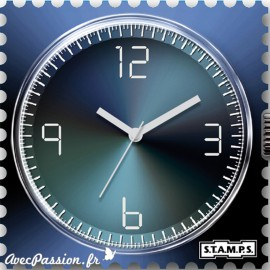 S.T.A.M.P.S. Cadran waterproof de montre shades of blue