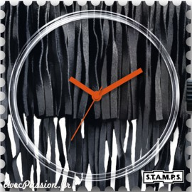 Montre Stamps cadran de montre black fringe