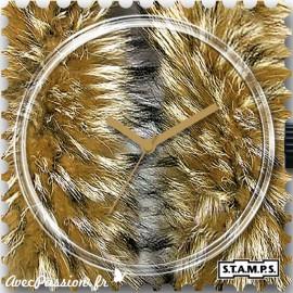 Montre Stamps cadran de montre false coon