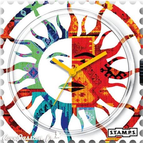 Montre Stamps cadran de montre solar eclipse