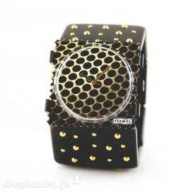 Bracelet élastique de montre Stamps flery gold