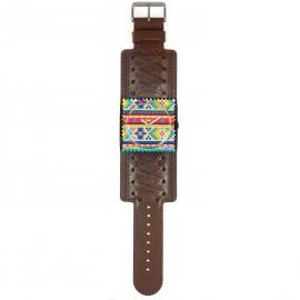 Montre Stamps bracelet de montre marron rétro