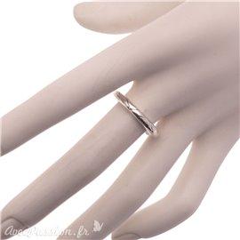 Bague Ubu taille 56 à composer anneau rond ciselé métal argent