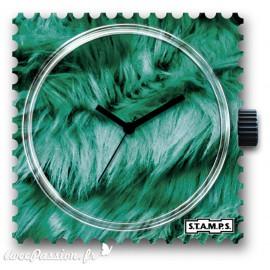 Montre Stamps cadran de montre green cat