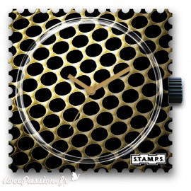 STAMPS Cadran de montre gold weaving