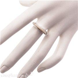 Bague Ubu taille 54 à composer anneau ellipse couleur ivoire argent