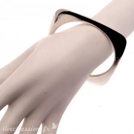 Bracelet fantaisie Ubu jonc carré épais argent rigide