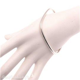 Bracelet fantaisie Ubu jonc carré argent métal