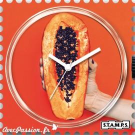 Cadran de montre Stamps papaya