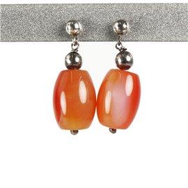 Boucles d'oreilles fantaisie orange oreilles percées