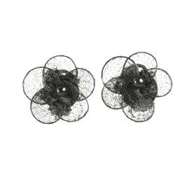 Boucles d'oreilles clips fantaisie Vogler noir