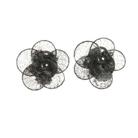 Boucles d'oreilles clips fantaisie Vogler noir -