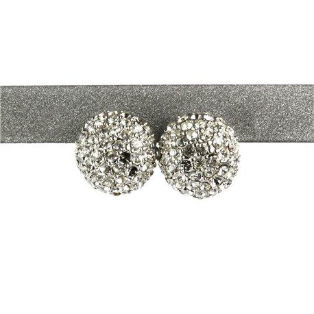 vente usa en ligne haut de gamme véritable meilleure vente Boucles d'oreilles boule strass cristal oreilles percées