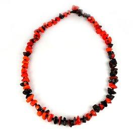 Collier fantaisie créateur Sobral perles orange