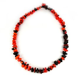 Collier fantaisie créateur Sobral perles orange -