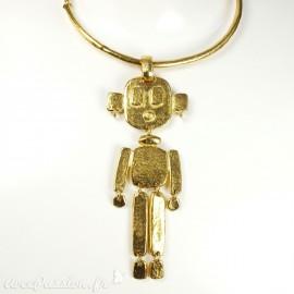 Sautoir fantaisie doré max le robot créateur Il était une fois
