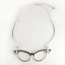 Ras de cou Dolce Vita lunettes argent
