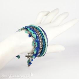 Bracelet Cheny's multi rangs bohème chic bleu
