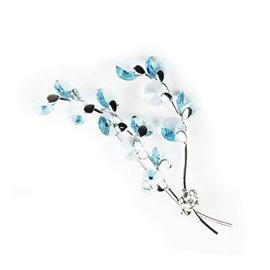 Broche Cheny's en argent avec cristaux bleu