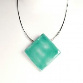 Collier fantaisie créateur Marie Pastorelli bleu turquoise -