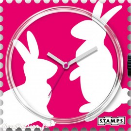 STAMPS Cadran de montre bunny love