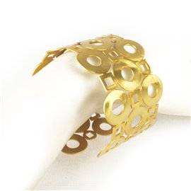 Manchette métal RAS doré géométrique