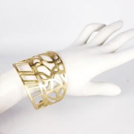 Manchette métal RAS doré lianes