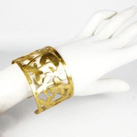 Manchette métal RAS doré papillons