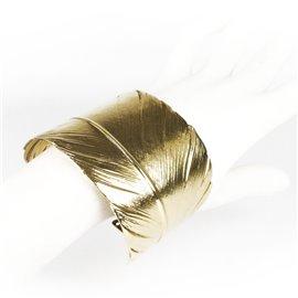 Manchette doré Lotta Djossou plume
