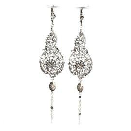 Boucles d'oreilles argent Lotta Djossou oreilles percées arabesque art nouveau