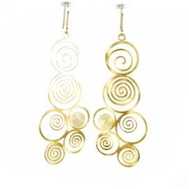 Boucles d'oreilles percées métal RAS doré petites spirales