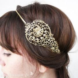 Bijou de tête doré larme Headband bijou cheveux