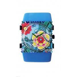 Bracelet élastique de montre Stamps belta paradise bleu