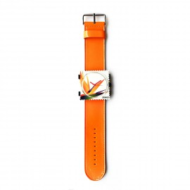 Bracelet de montre Stamps orange glossy