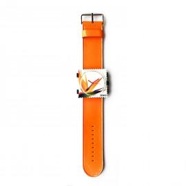 Bracelet de montre Stamps orange glossy