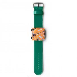 Bracelet de montre Stamps vert petrol glossy
