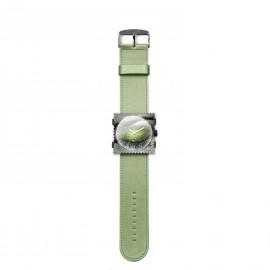 Bracelet de montre Stamps vert satin