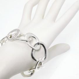 Bracelet fantaisie Ubu mailles ovale entrelacé argent