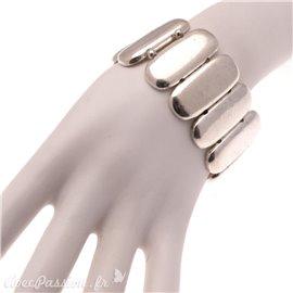 Bracelet fantaisie Ubu argent élastique galets