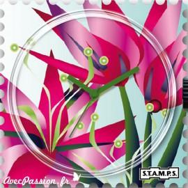 Cadran de montre Stamps blooming flower