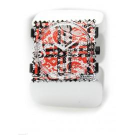 Bracelet élastique de montre Stamps belta blanc ovale
