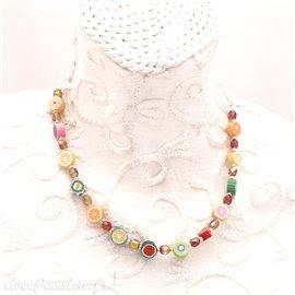 Collier fantaisie multicolore -