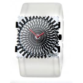 Bracelet élastique de montre Stamps belta transparent blanchi