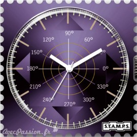 S.T.A.M.P.S. Cadran waterproof de montre shades of violet