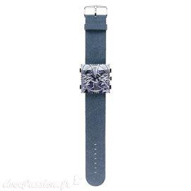 Bracelet de montre Stamps bleu Jack rough vintage