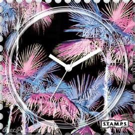 Montre Stamps cadran de montre miami pink