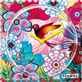 STAMPS Cadran de montre bird of paradise